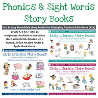 Phonics, Sight Words & Short Vowel Storybooks (Decodable Readers grades K-5 and Dyslexia)