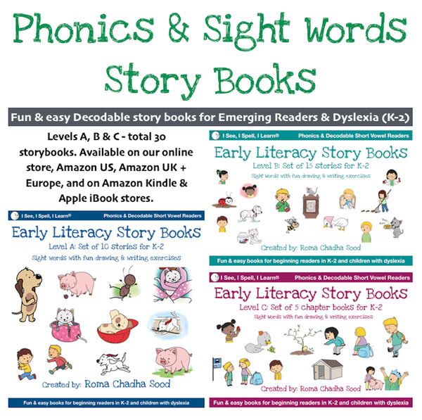 Phonics & Sight Words Storybooks, Decodable  Readers (For Emergent Readers & Dyslexia)