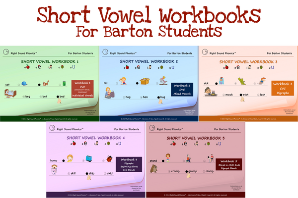 I See, I Spell, I Learn® - Short Vowel eWorkbooks - For Barton Students - PDF Download