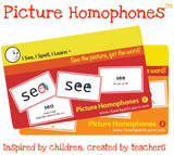 I See, I Spell, I Learn® - Picture Homophones™ Flashcards - Sets 1 & 2 Combo