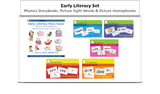 Literacy, Reading, Spelling Tools Bundle - Phonics Readers, Picture Sight Words, Picture Homophones