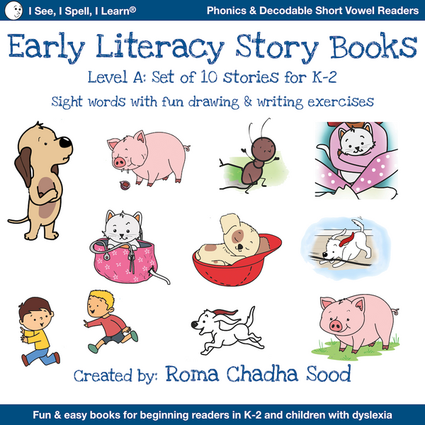 Level A - Phonics & Sight Words Storybooks, Decodable Readers (For Emergent Readers & Dyslexia)