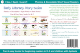 Phonics, Sight Words & Short Vowel Storybooks (Decodable Readers grades K-5 and Dyslexia) - Level A
