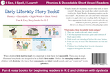 Phonics, Sight Words & Short Vowel Storybooks (Decodable Readers grades K-5 and Dyslexia) - Level C