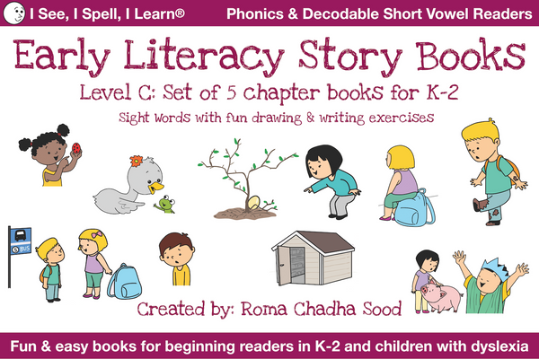 Level C - Phonics & Sight Words Storybooks, Decodable Readers (For Emergent Readers & Dyslexia)