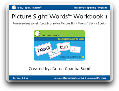Picture Sight Words™ eWorkbook - Set 1 (Download)