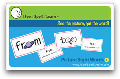 I See, I Spell, I Learn® - Picture Sight Words™ Flashcards Set 1