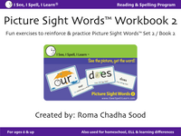 Picture Sight Words™ eWorkbooks - Sets 1, 2, 3 (Digital Purchase & Download)