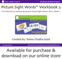 I See, I Spell, I Learn® - Picture Sight Words™ Flashcards Sets 1, 2 & 3