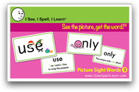 I See, I Spell, I Learn® - Picture Sight Words™ Flashcards Set 3
