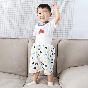 2 in 1 Comfy children's diaper skirt shorts
