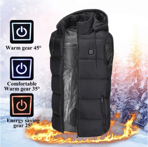 USB Powered Heated Vest -4 Heat Zones