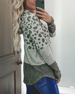 🔥BUY 3 GET EXTRA 15% OFF 🔥Leopard Print Color Patchwork Hoodie (2 Colors)