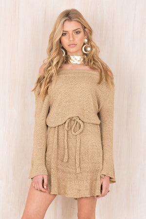 Sexy One-shoulder Sweater Dress Bottoming Skirt