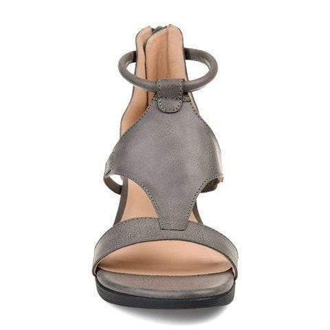 Women Casual Leather Comfy Wedge Sandals (BUY 2 GET 10% OFF & Free Shipping)