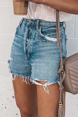 Casual Bibbed jeans shorts