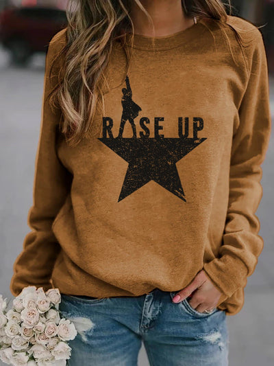 Women's Rise Up Hamilton Print Sweatshirt