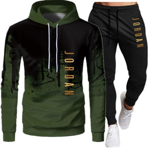 2 Pieces Sets Tracksuit Men Hooded Sweatshirt+pants Pullover Hoodie Sportwear Suit Ropa Hombre Casual Men Clothes Size S-3XL