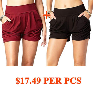 Pleated Comfy Bamboo Soft Harem Shorts