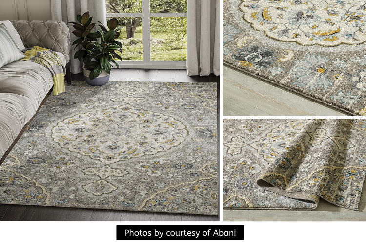 Abani Large Ivory & Blue Floral Motif Distressed Area Rug Review - A Timeless Piece of Art in Superior Comfort