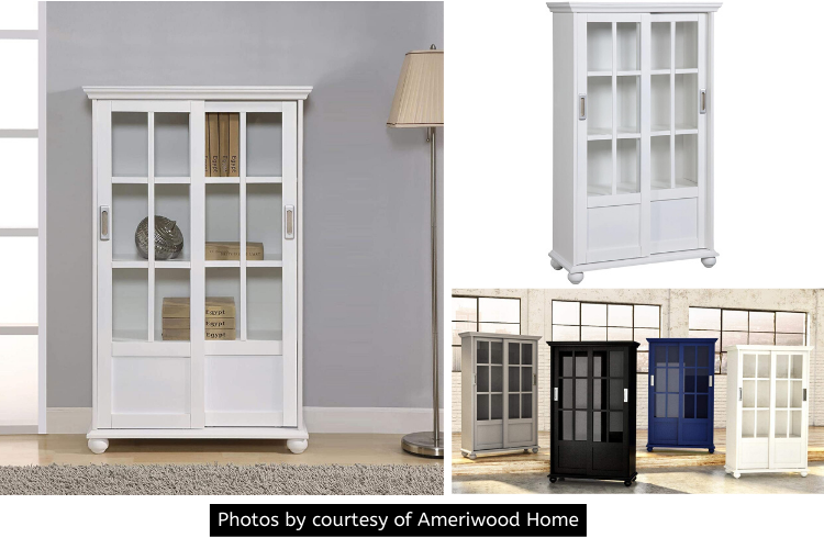The Ameriwood Home Aaron Lane Bookcase Review - Sleek Sliding Door Mechanism