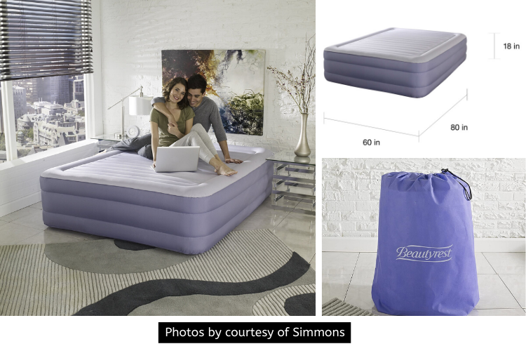 Simmons Beautyrest Fusion Aire Inflatable Queen Air Mattress Review - For an Effortless Deep Slumber