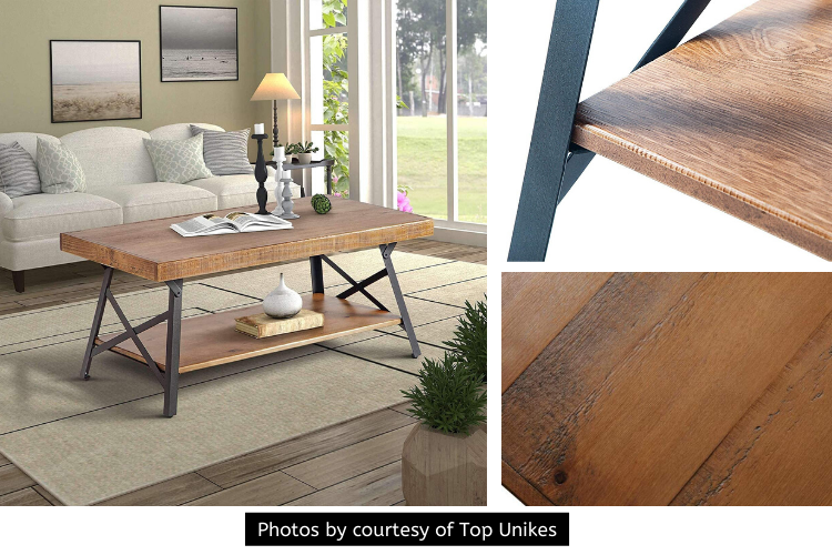 Top Unikes Wood Coffee Table Review - A Pleasing Combination of Sophistication and Contemporary Styleand