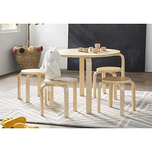 Guidecraft Nordic Kids Table and Chairs Review - Modern Space-Saving Stackable Design