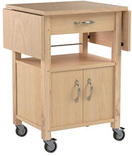 Load image into Gallery viewer, Winsome Wood Drop-Leaf Kitchen Cart