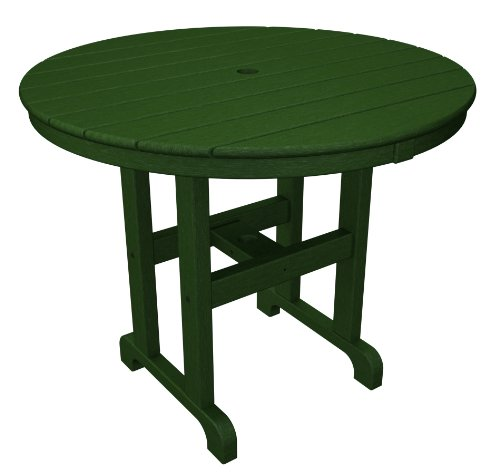 POLYWOOD RT236GR Round Dining Table, 36-Inch, Green