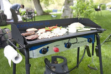 Load image into Gallery viewer, Camp Chef Expedition 3X Triple Burner Stove w/Griddle (Colors: White/Blue/Black)