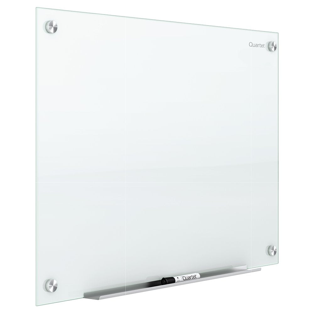 Quartet Glass Whiteboard, Magnetic Dry Erase White Board, 4  x 3 feet, Infinity, White Surface (G4836W)