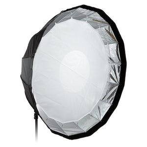 Fotodiox EZ-Pro Deep Parabolic Softbox 48in (120cm) - Quick Collapsible Softbox with Balcar Speedring for Balcar and Flashpoint I Stobes