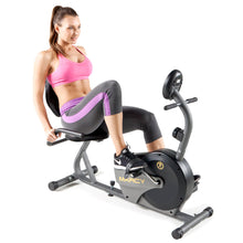 Load image into Gallery viewer, Marcy Magnetic Recumbent Bike with Adjustable Resistance and Transport Wheels NS-716R