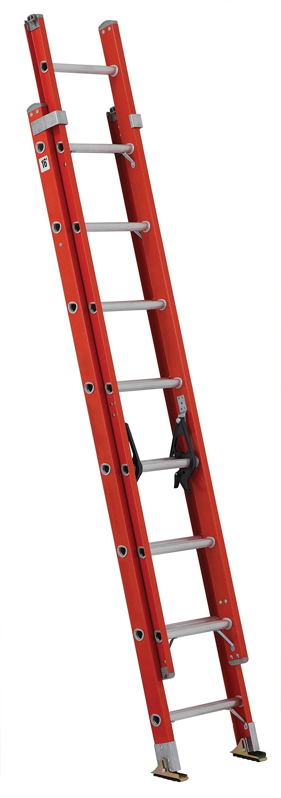 Louisville Ladder FE3216 Fiberglass Extension Ladder 300-Pound Capacity, 16-foot, Type IA