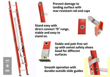 Load image into Gallery viewer, Louisville Ladder FE3216 Fiberglass Extension Ladder 300-Pound Capacity, 16-foot, Type IA