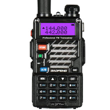 Load image into Gallery viewer, 5 Pack BaoFeng UV-5R+ Plus UHF VHF Dual-Band Two Way Radio Black + 1 Baofeng Programming Cable (Support Win7, Win10)
