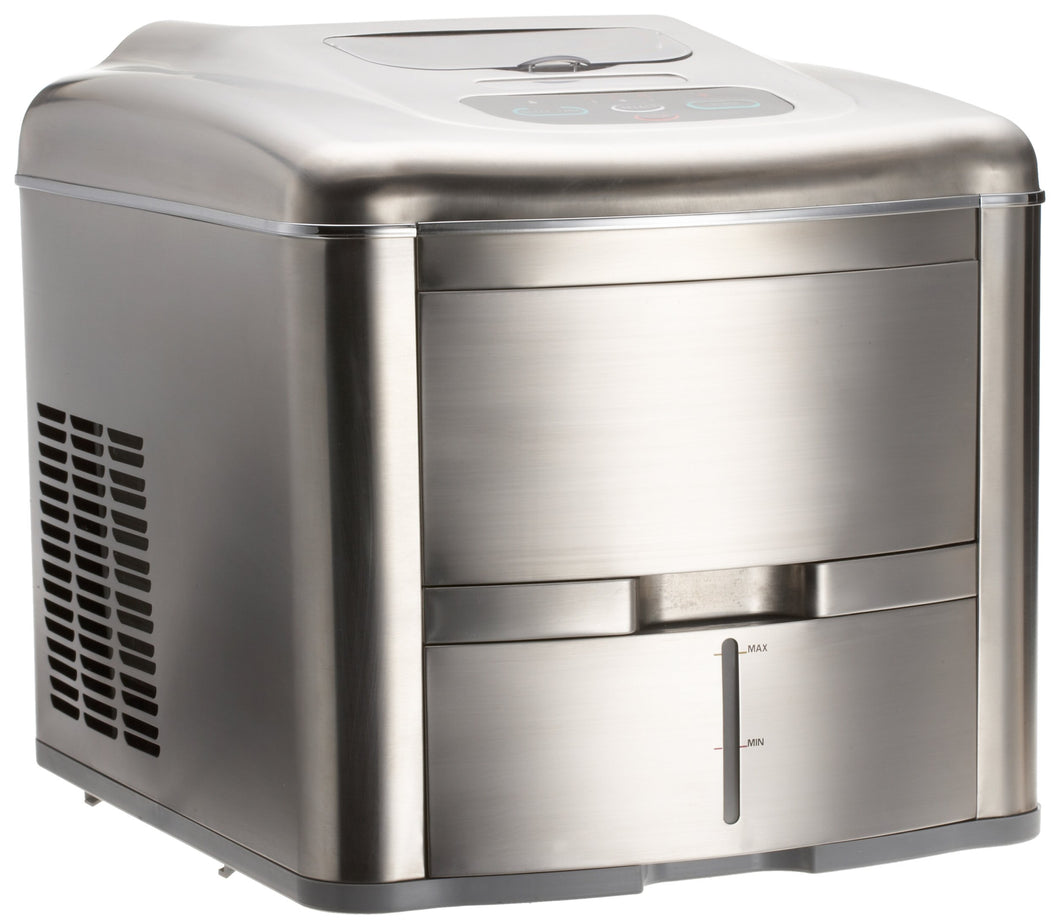 Lello TS-0612B Fully Automatic Compact Ice Maker, Stainless Steel