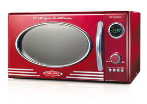 Nostalgia RMO400RED Retro 0.9 Cubic Foot Microwave