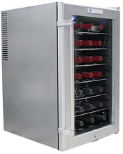 Load image into Gallery viewer, Whynter WC28S SNO 28 Bottle Wine Cooler, Platinum with Lock
