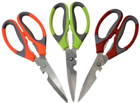 Kitchen Shears - Multipurpose Stainless Steel for Poultry, Fish, Meat, Vegetables, Herbs