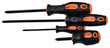 9 Piece Rubber Handle Screwdriver Set - Phillips and Flat Head Screwdrivers