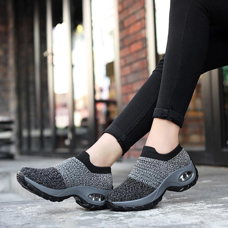 Women's Breathable Air Cushion Lightweight Leisure Shock Running Sneakers