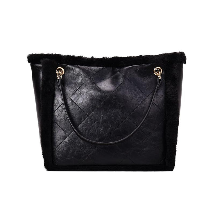 Women's winter fashion one shoulder slung chain bag