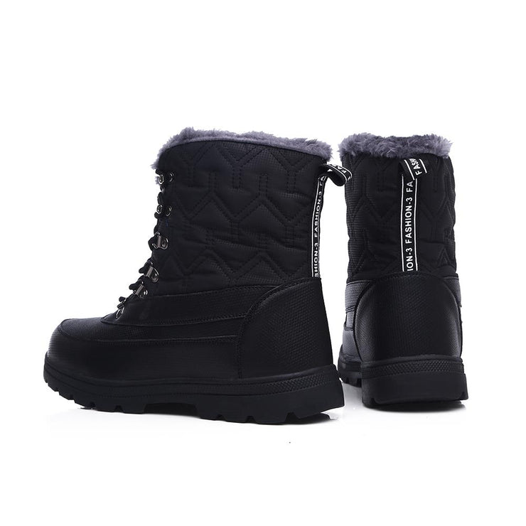 Women's cold and anti-freezing snow boots large size cotton boots