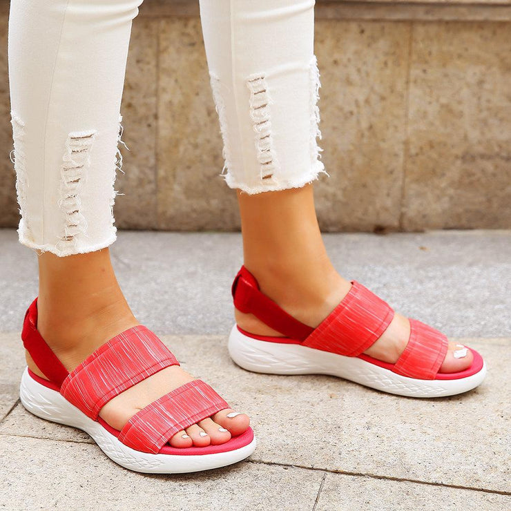 Women's Casual Flat Sandals athletic Sole Slip On Lightweight Sandal