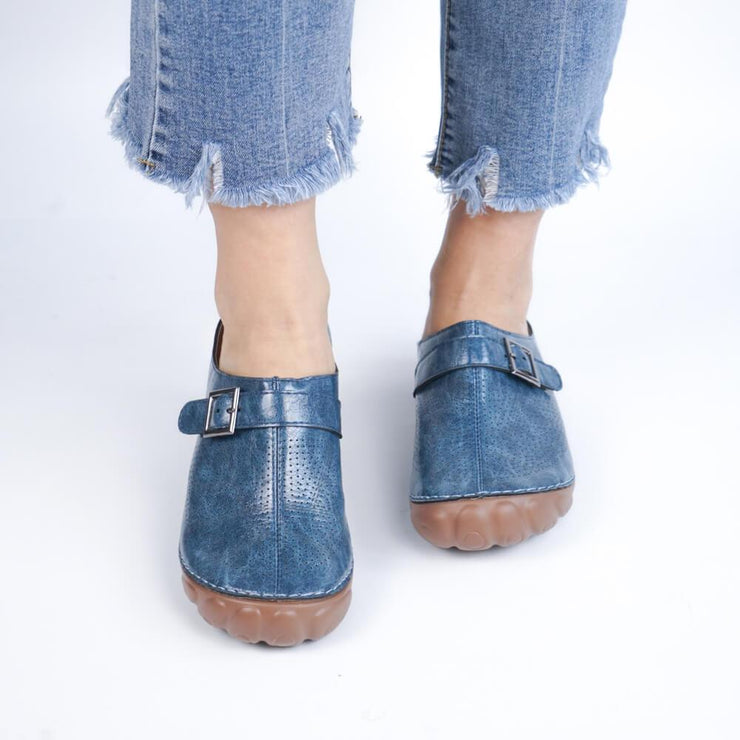 Women Breathable Lightweight Mule Wedge Slipper Sandals