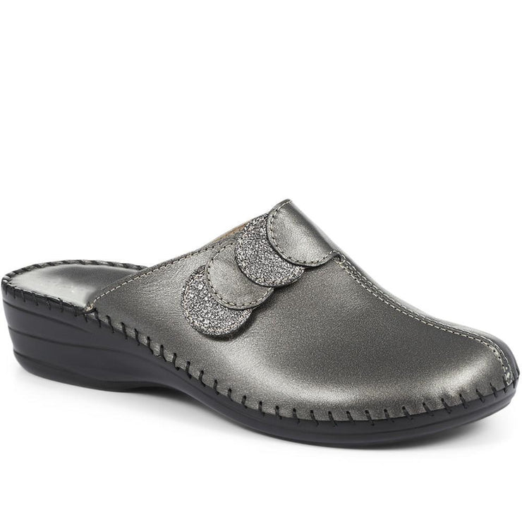 Women's Leather Clog Mule