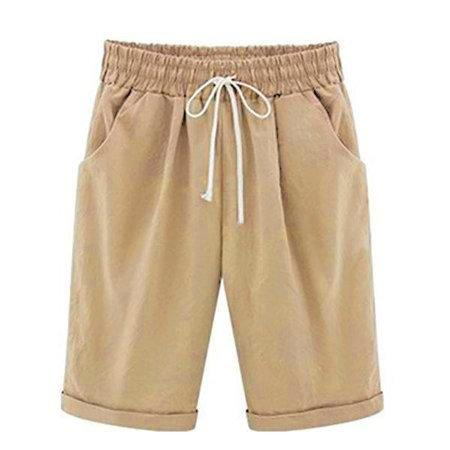 Women Linen Casual Shift Bottoms