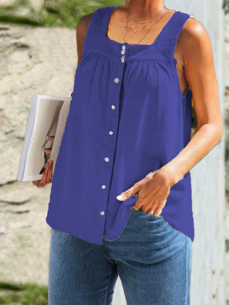 Women's Cotton Casual Solid Tops